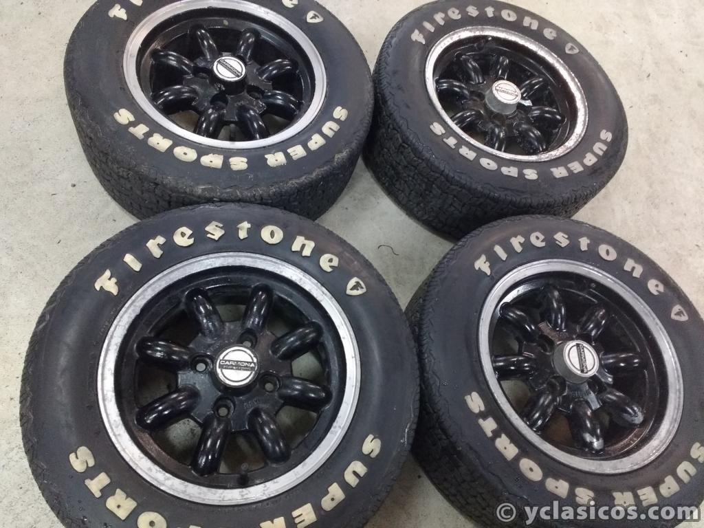 "Llantas Triumph 13"" con neumaticos firestone supersport"